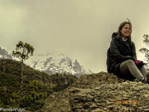 Eu no Mirador do Lago Gutiérrez em Bariloche (Argentina)