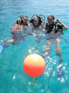 aula de mergulho