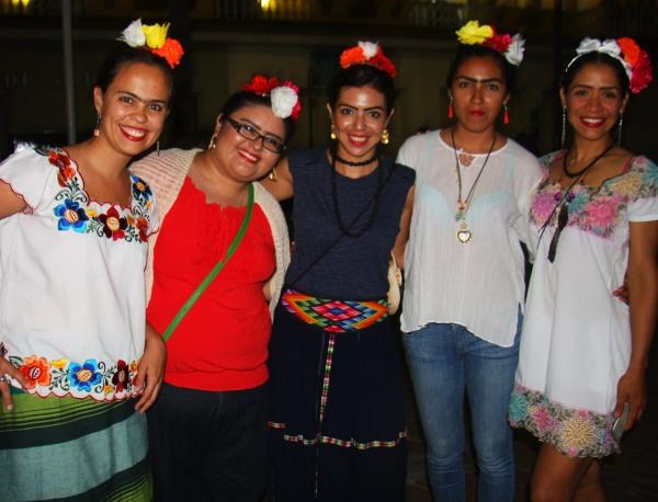 De Frida com as amigas mexicanas