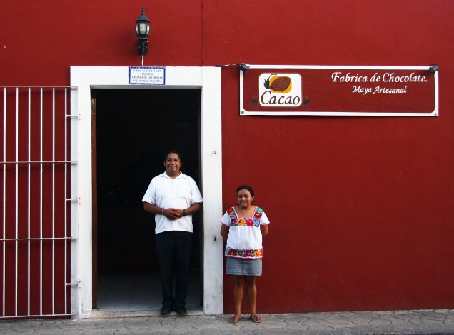 Fachada da Fábrica de Chocolates na Calzada de los Frailes