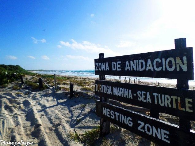 Praia na Punta Sur em Cozumel - México