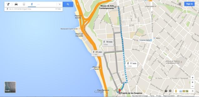 mapa Barranco