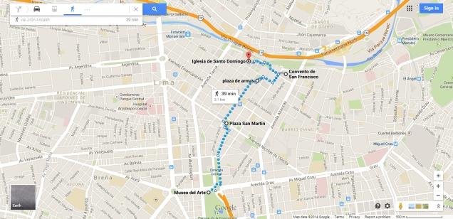 Mapa centro lima